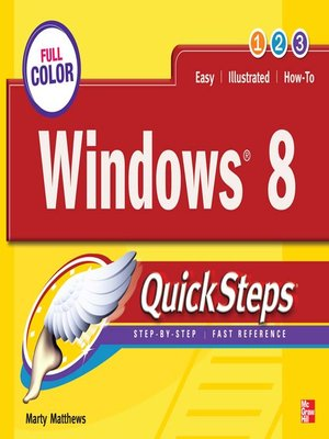 cover image of Windows 8 QuickSteps