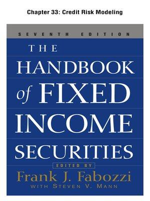 cover image of Credit Risk Modeling