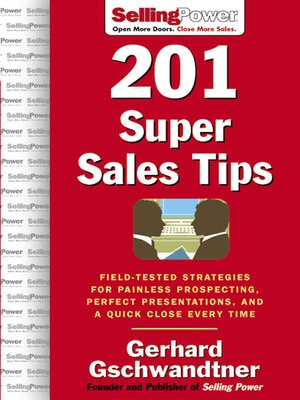 cover image of 201 Super Sales Tips