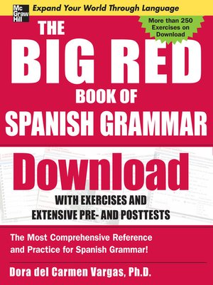 cover image of The Big Red Book of Spanish Grammar