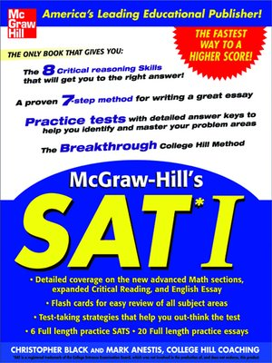 cover image of McGraw-Hill's SAT I