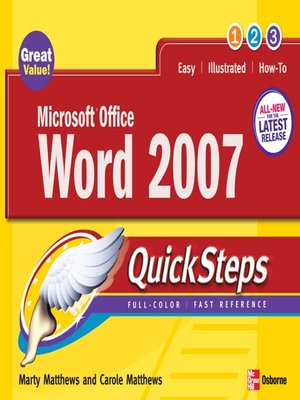 cover image of Microsoft® Office Word 2007