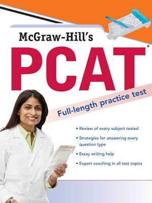 cover image of McGraw-Hill's PCAT