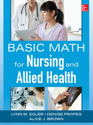cover image of Basic Math for Nursing and Allied Health