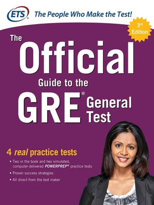 cover image of The Official Guide to the GRE General Test