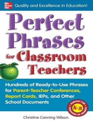 cover image of Perfect Phrases for Classroom Teachers