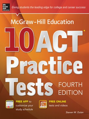 cover image of McGraw-Hill Education 10 ACT Practice Tests