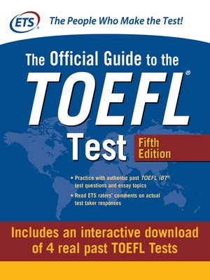 cover image of Official Guide to the TOEFL Test with Downloadable Tests