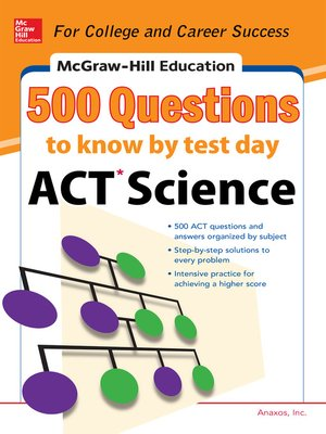 cover image of 500 ACT Science Questions to Know by Test Day