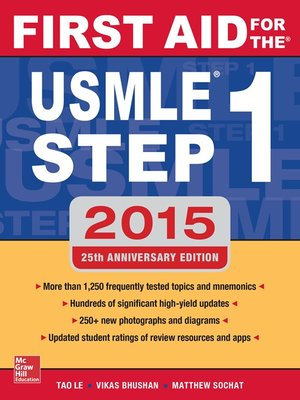 cover image of First Aid for the USMLE Step 1 2015