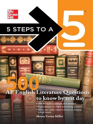 cover image of 500 AP English Literature Questions to Know By Test Day
