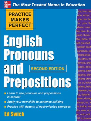 cover image of English Pronouns and Prepositions