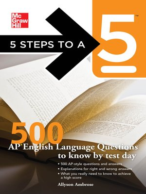 cover image of 500 AP English Language Questions to Know by Test Day
