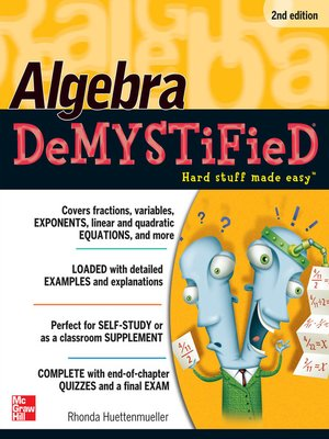 cover image of Algebra DeMYSTiFieD