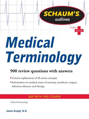 cover image of Schaum's Outline of Medical Terminology