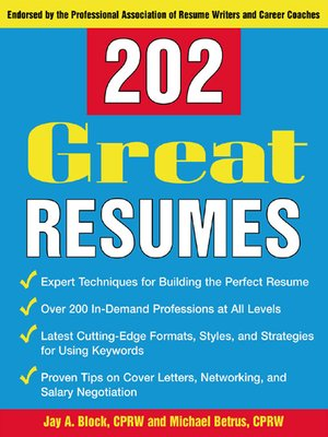 cover image of 202 Great Resumes