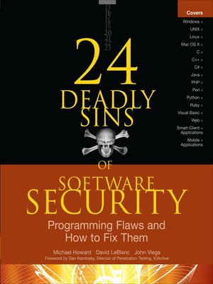 cover image of 24 Deadly Sins of Software Security