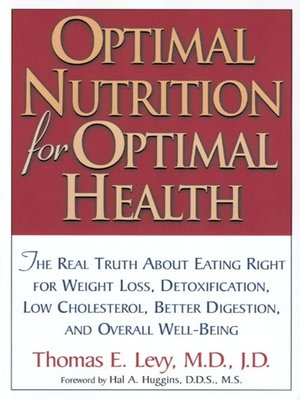 cover image of Optimal Nutrition for Optimal Health