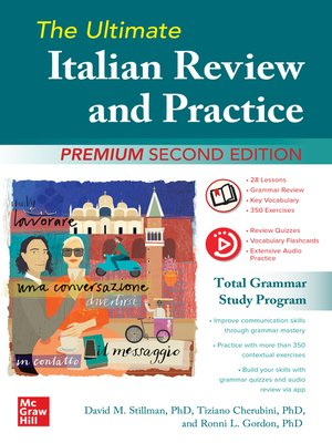 cover image of The Ultimate Italian Review and Practice, Premium