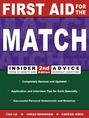 cover image of First Aid for the® Match