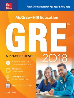 cover image of McGraw-Hill Education GRE 2018