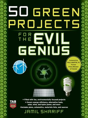 cover image of 50 Green Projects for the Evil Genius