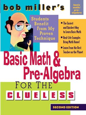 cover image of Bob Miller's Basic Math and Pre-Algebra for the Clueless