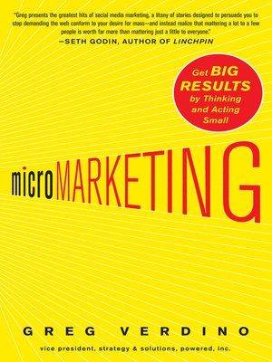 cover image of MicroMarketing