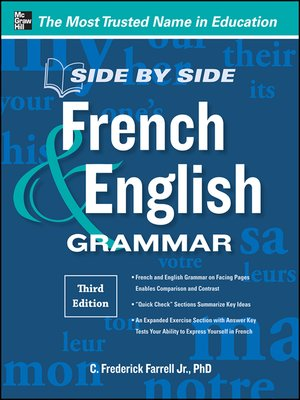 cover image of Side-by-Side French and English Grammar