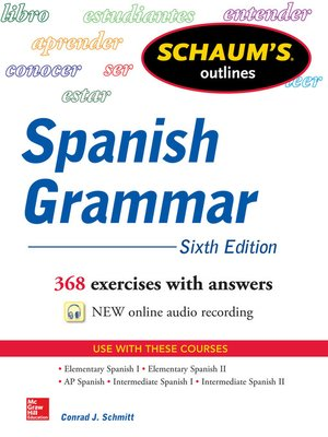 cover image of Schaum's Outline of Spanish Grammar