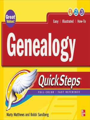 cover image of Genealogy QuickSteps