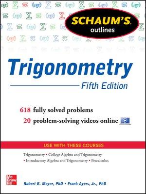 cover image of Schaum's Outline of Trigonometry