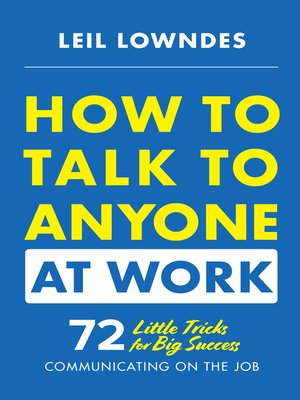 cover image of How to Talk to Anyone at Work