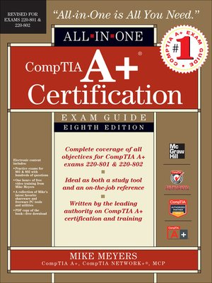 cover image of CompTIA A+ Certification All-in-One Exam Guide