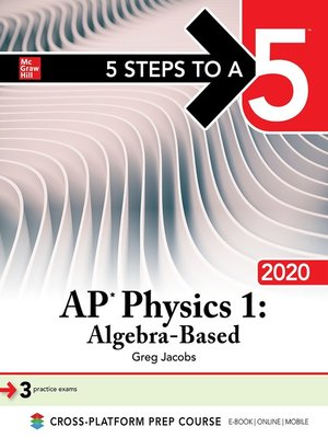 cover image of 5 Steps to a 5: AP Physics 1, Algebra-Based 2020