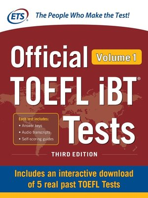 cover image of Official TOEFL iBT Tests Volume 1