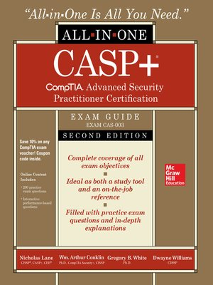 cover image of CASP+ CompTIA Advanced Security Practitioner Certification All-in-One Exam Guide (Exam CAS-003)