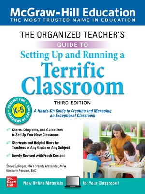 cover image of The Organized Teacher's Guide to Setting Up and Running a Terrific Classroom, Grades K-5