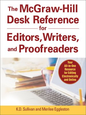cover image of The McGraw-Hill Desk Reference for Editors, Writers, and Proofreaders