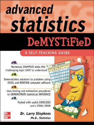cover image of Advanced Statistics Demystified