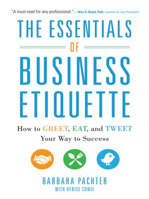cover image of The Essentials of Business Etiquette
