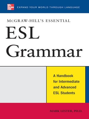 cover image of McGraw-Hill's Essential ESL Grammar
