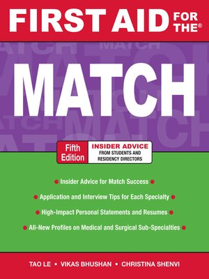 cover image of First Aid for the Match