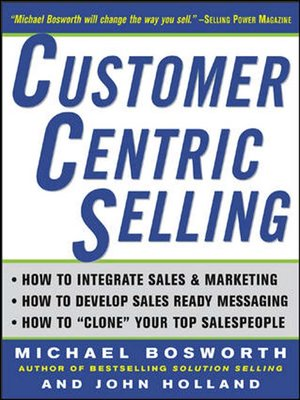 cover image of CustomerCentric Selling