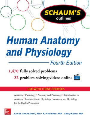 cover image of Schaum's Outline of Human Anatomy and Physiology