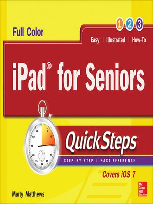cover image of iPad for Seniors QuickSteps