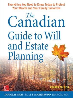 cover image of The Canadian Guide to Will and Estate Planning