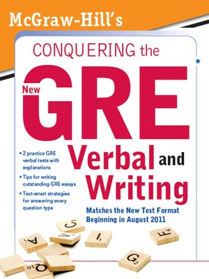 cover image of McGraw-Hill's Conquering the New GRE Verbal and Writing