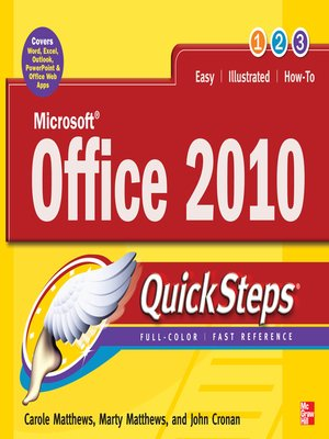 cover image of Microsoft® Office 2010 QuickSteps
