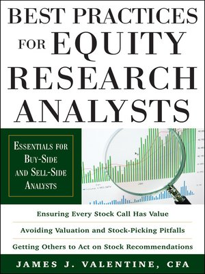 james valentine best practices for equity research analysts pdf